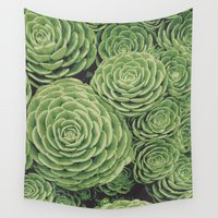 succulents Wall Tapestries featuring Succulents by Eclectic at HeART