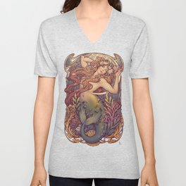 Andersen Little Mermaid Nouveau Unisex V-Neck