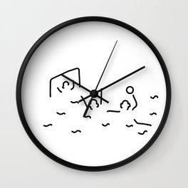 beach-ball gate wasserballer Wall Clock