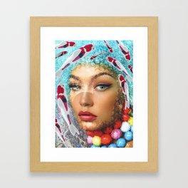 WomanFish Framed Art Print