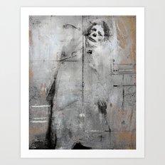 Sad clown Art Print