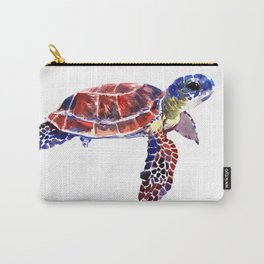 Sea Turtle Children Illustration, kids wall art Carry-All Pouch
