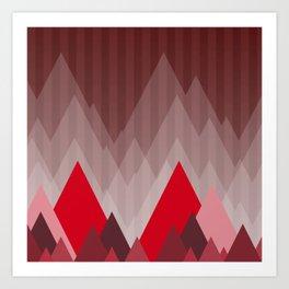Triangular Mountain Range Art Print