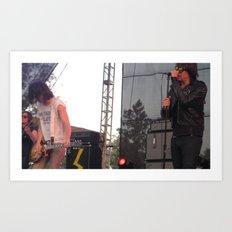 Julian and Nick - The Strokes Art Print