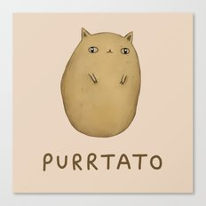 Purrtato Canvas Print
