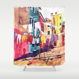 Laundry in Venice Shower Curtain