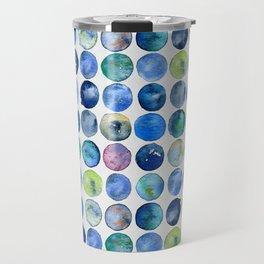 Watercolour Circles - Multicolour Travel Mug