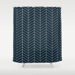 Herringbone Navy pattern Shower Curtain