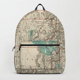 Vintage Map of Utah (1889) Backpack