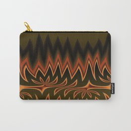 Fractal Tribal Art in Autumn Carry-All Pouch