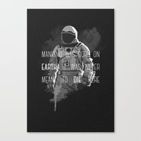 interstellar Canvas Prints featuring interstellar by Molnár Roland