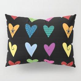 Funky Heart Doodles Pillow Sham