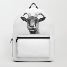 Black and White Goat Backpack