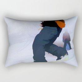 Snowboarder Moves Rectangular Pillow