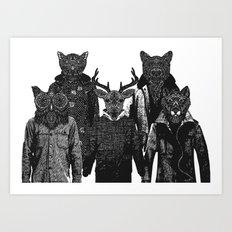 The Animal Collective Art Print