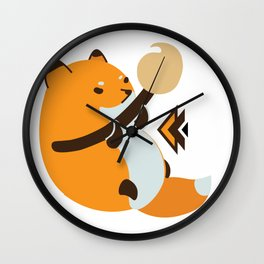 Smol Bean Fox Wall Clock