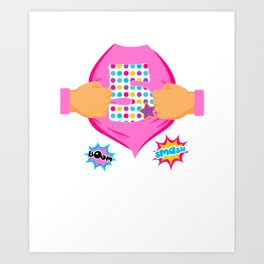 Super Kids 5th Birthday Girl Art Print