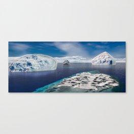 Frozen ocean Canvas Print