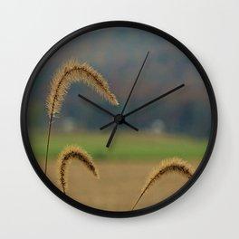 Grass Seed Stalks Wall Clock
