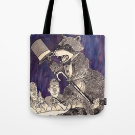Dapper Raccoon Tote Bag