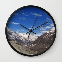 On the Road in Lahaul Valley Wall Clock
