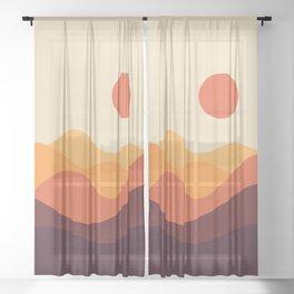 Geometric Landscape 21 Sheer Curtain