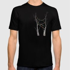 Rope Black Mens Fitted Tee LARGE