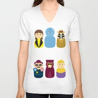 watchmen V-neck T-shirts featuring Watchmen by PinkRadish