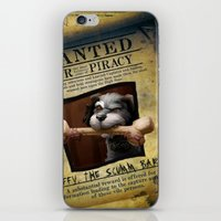 monkey island iPhone & iPod Skins featuring Monkey Island - WANTED! Spiffy, the Scumm Bar dog by Sberla