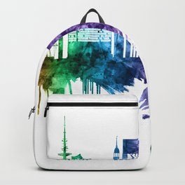Hamburg Germany Skyline Backpack