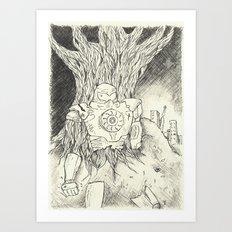 Litho Mecha Art Print