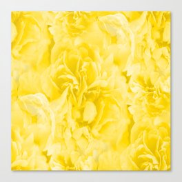 Yellow Peony Petals in Close-up #decor #society6 #buyart Canvas Print