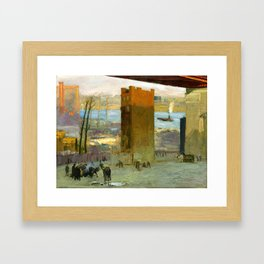 """George Wesley Bellows """"The Lone Tenement"""" Framed Art Print"""