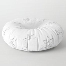 Paper Boat Pattern Floor Pillow