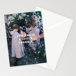 John Singer Sargent, Carnation, Lily, Lily, Rose (c.1885) / Halsey, Trouble (2014) Stationery Cards