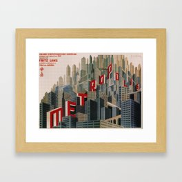 Metropolis 1927, movie, poster, from Fritz Lang, Original Design Framed Art Print