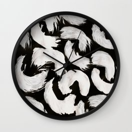 Cocoon, Abstract, White & Black Wall Clock