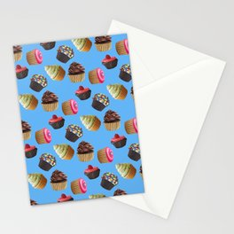 Android Eats: cupcake pattern Stationery Cards