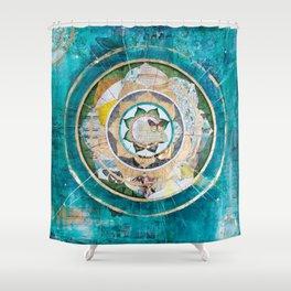 Blue Mandala Shower Curtain