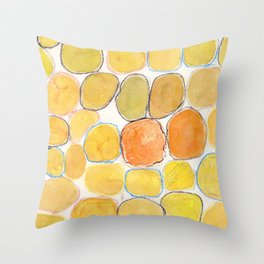 Cheerful orange Gathering Throw Pillow