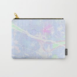 Pastel Blue Graffiti Marble Carry-All Pouch