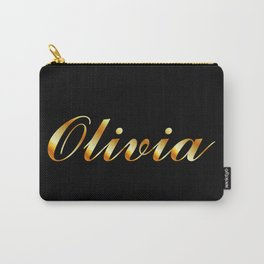 Name of a girl Olivia in golden letters Carry-All Pouch