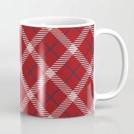 Red plaid tartan Coffee Mug