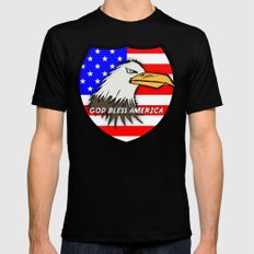 God Bless America Mens Fitted Tee SMALL Black