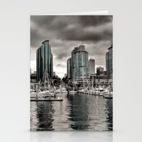 vancouver Stationery Cards featuring Vancouver Waterfront by Anthony M. Davis
