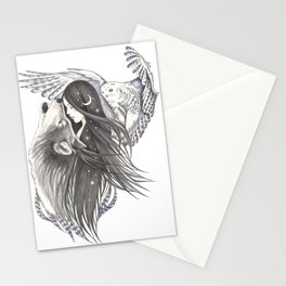 Waning Moon Stationery Cards