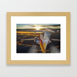 Flying at dawn Framed Art Print