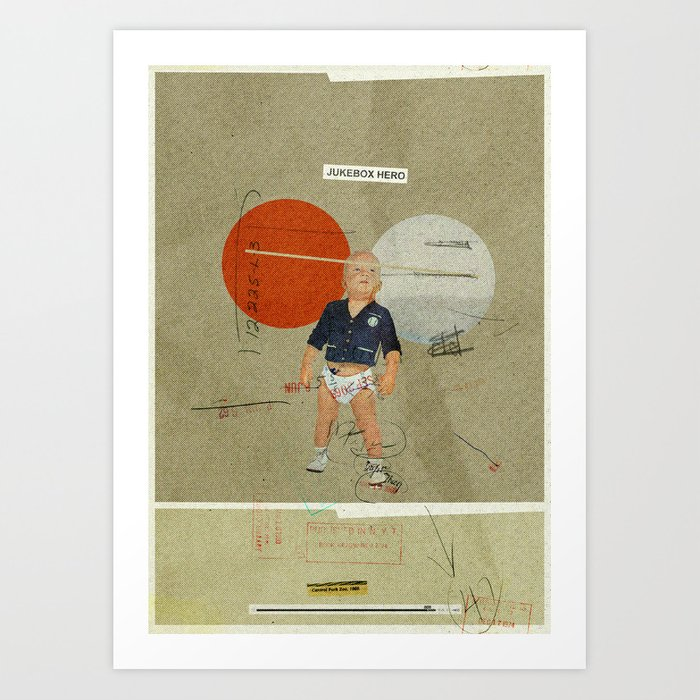 Jukebox Hero | Collage Art Print
