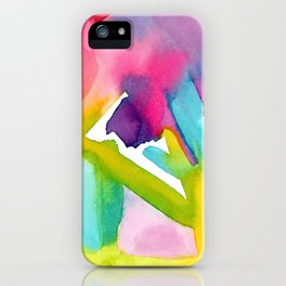 Follow Your Heart - watercolor abstract minimalism modern art iPhone Case