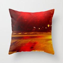 Crimson Camber Throw Pillow